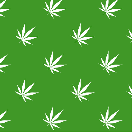 Vector illustration of marijuana Illusztráció