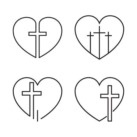 Vector crucifix cross. Ilustração Vetorial