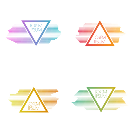 Set of vector triangular banners
