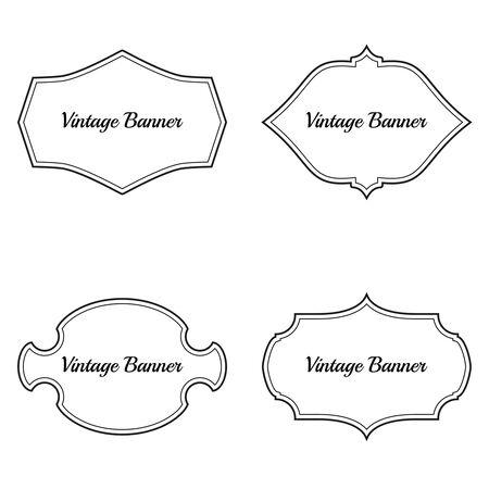 Set of vintage vector frames. Ilustracja