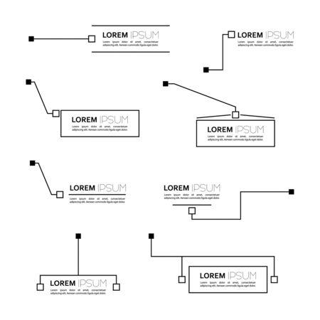 Digital callouts titles. Ilustracja
