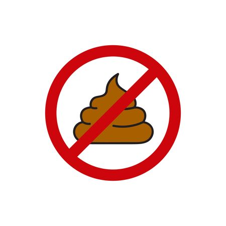 Round sign prohibiting shit.