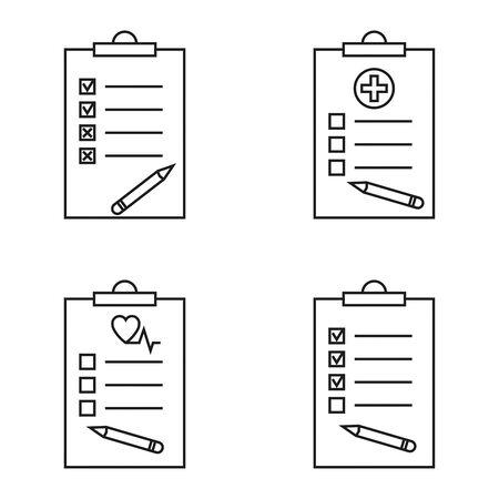 Set of checklist illustration