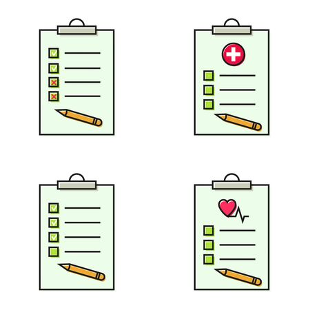 Set of checklist illustration Ilustração
