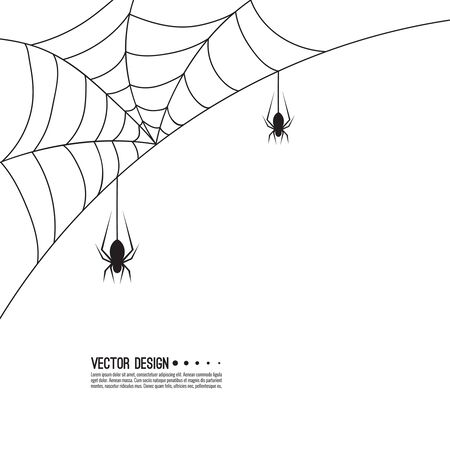 Vector illustration of creepy spider