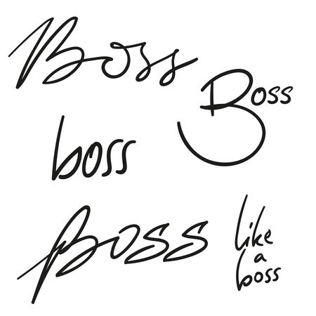 Set of vector handwriting Illustration