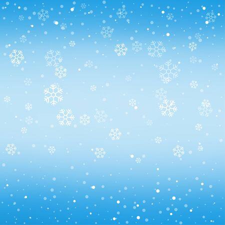 Christmas winter blue background Иллюстрация