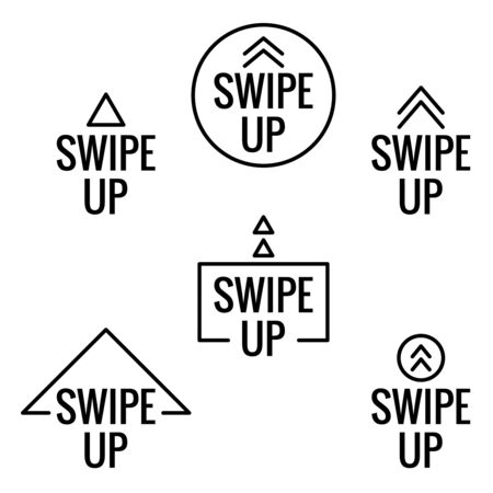 Swipe up icon Ilustrace