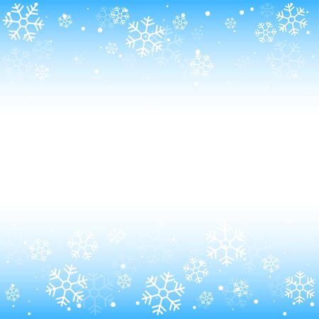Christmas winter blue background