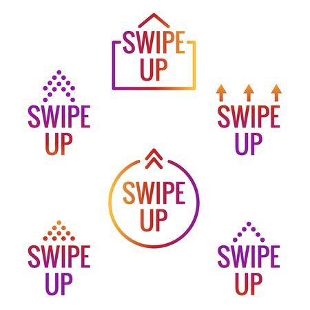 Swipe up icon Illustration