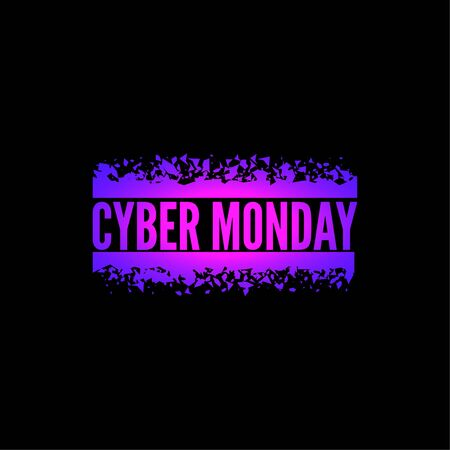 Cyber Monday with tech circuit board.