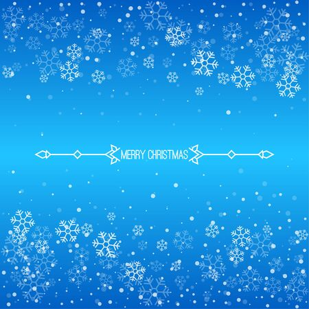 Christmas winter blue background.