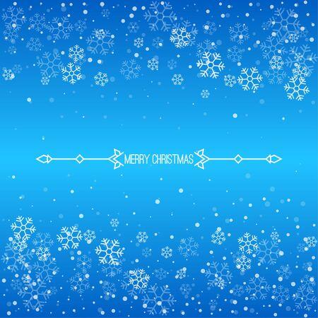 Weihnachtswinter blauer Hintergrund.