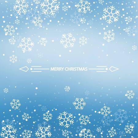 Fondo azul de invierno de Navidad.