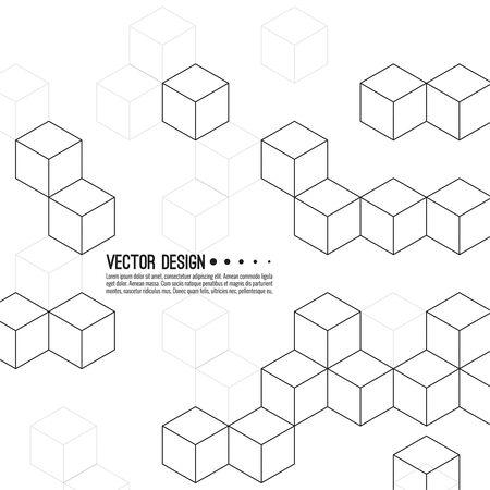 Patrón de vector de cubos. Ilustración de vector