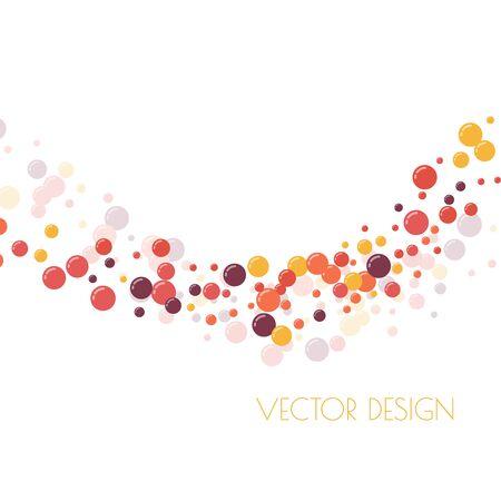 Festive multicolored circles Stock Illustratie