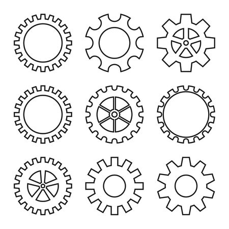 icons of gear wheel