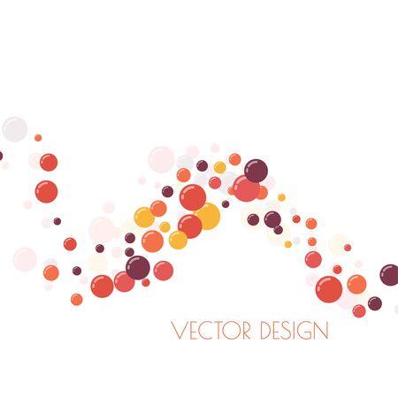 Festive multicolored circles