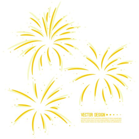 Vector firework design Illusztráció