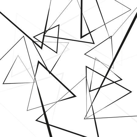Vector intersecting triangles pattern.