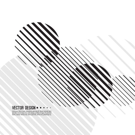 Abstract monochrome background with spherical geometric shape. Vector dynamic spheres from diagonal stripes. Black and white circle striped.  イラスト・ベクター素材