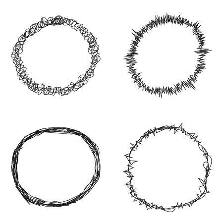 Hand drawn speech bubbles. Ilustración de vector