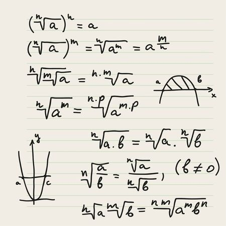 Vector background with mathematical formulas.