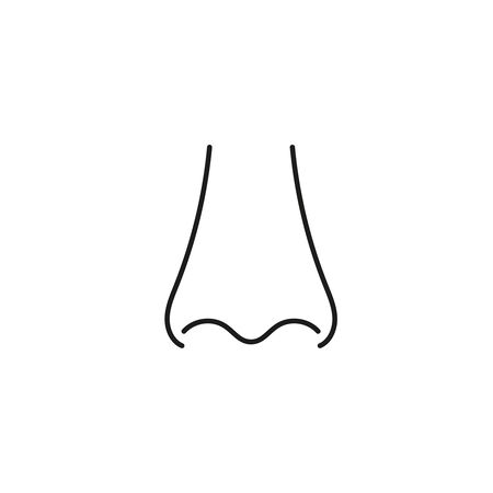 Human nose with nostrils.