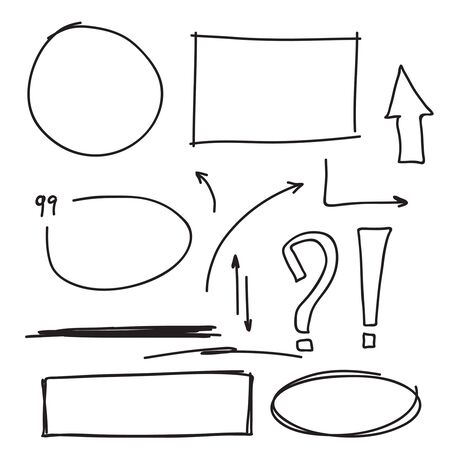 Set hand drawn text box.