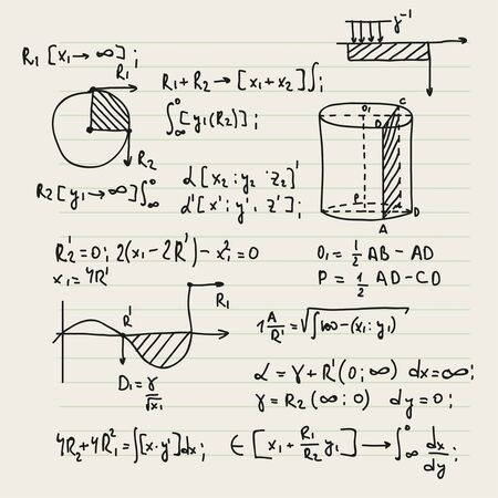 Vector background with formulas. Vecteurs