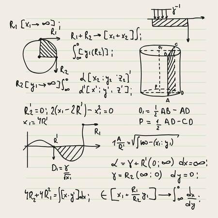 Fond de vecteur avec des formules. Vecteurs