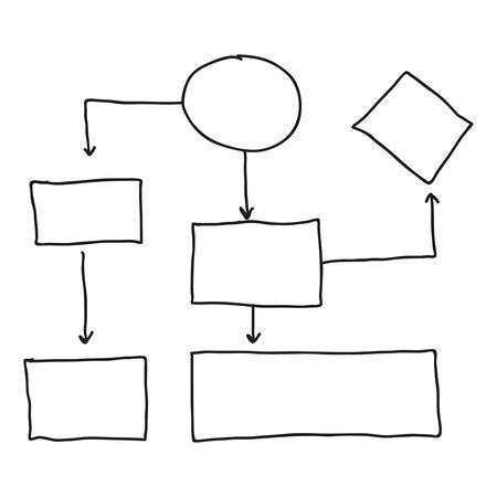 Abstract flowchart vector Vektorgrafik