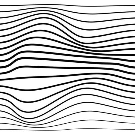 Distorted wave monochrome texture. Illusztráció