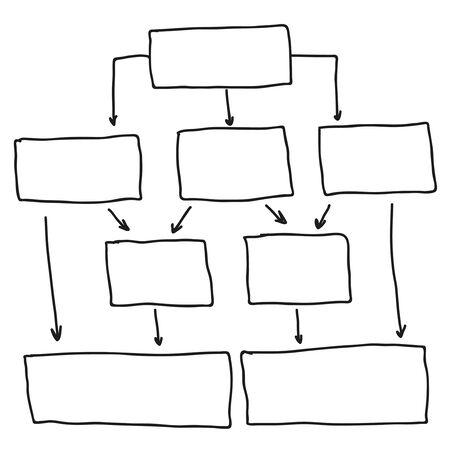 Abstract flowchart vector