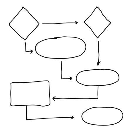 Vecteur d'organigramme abstrait Vecteurs