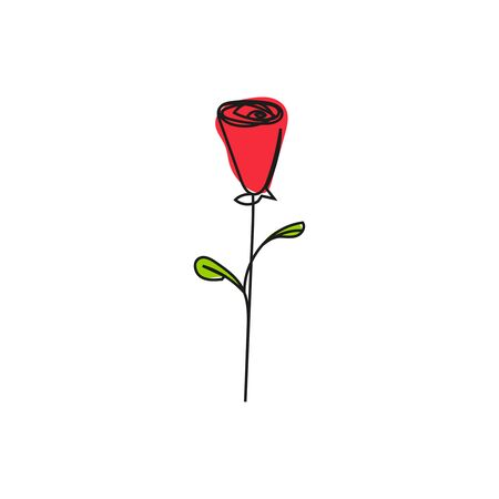 Hand drawn rose.