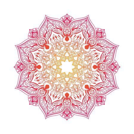 Hand drawn floral mandala. Ilustración de vector