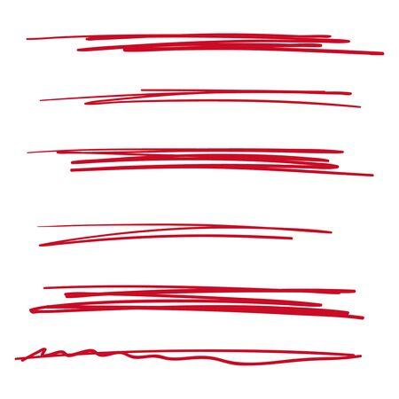 Vector collection of underline Ilustração