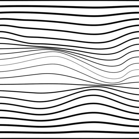 Distorted wave monochrome texture. Ilustrace