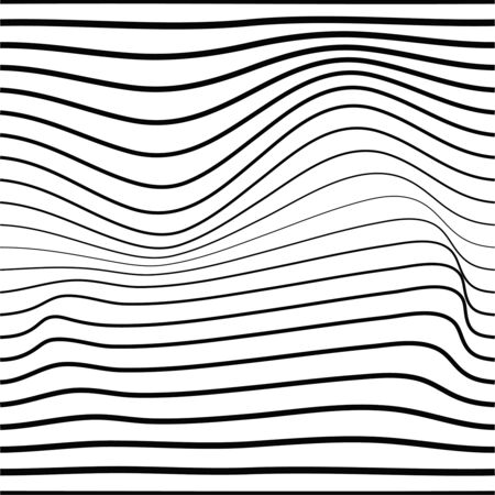 Distorted wave monochrome texture.  イラスト・ベクター素材
