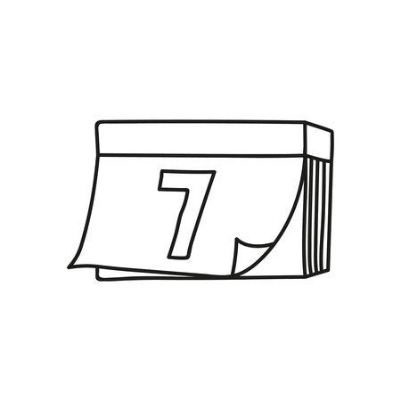 Vector calendar icon. Vectores