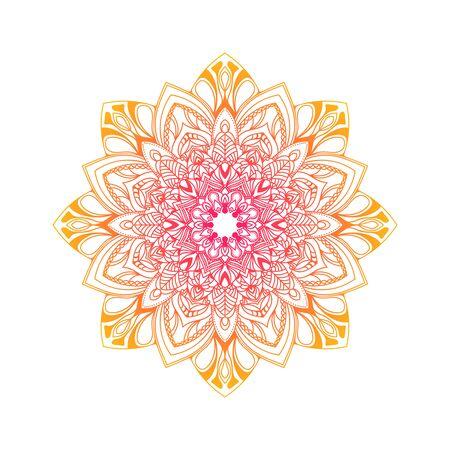 Hand drawn floral mandala.