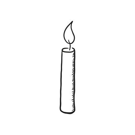 Vector sketch of a burning candle.