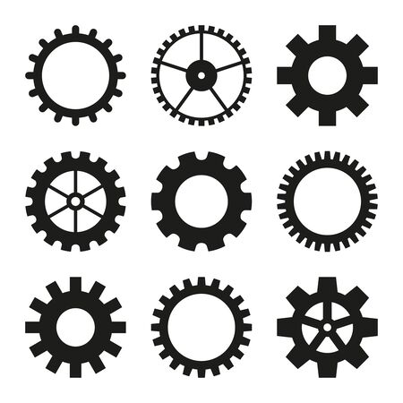 Icons of gear wheel.