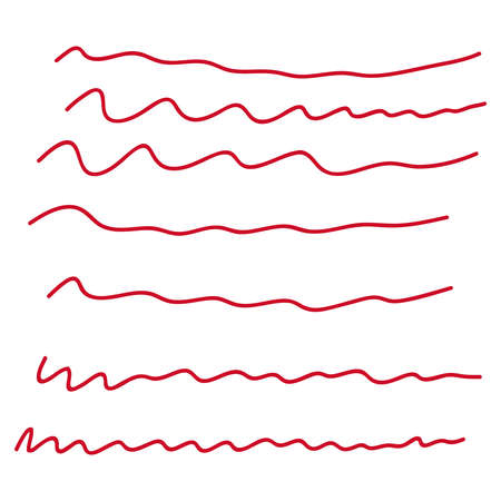 Vector collection of underline