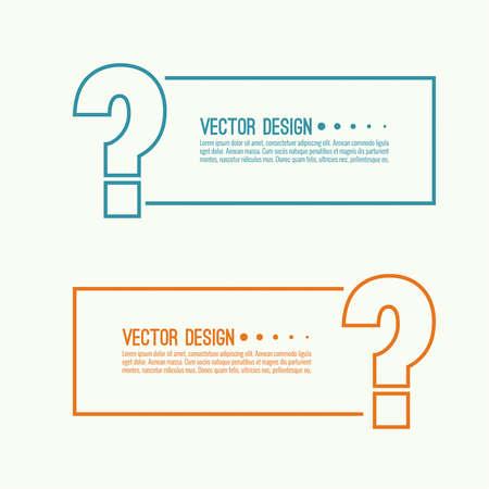 Question mark icon. Ilustración de vector