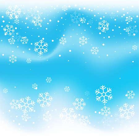 Christmas winter blue background. Ilustración de vector