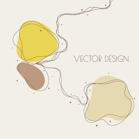 Vector illustration in pastel colors. Illusztráció