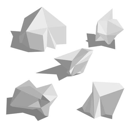 Abstract polygonal geometric shape. Ilustração Vetorial