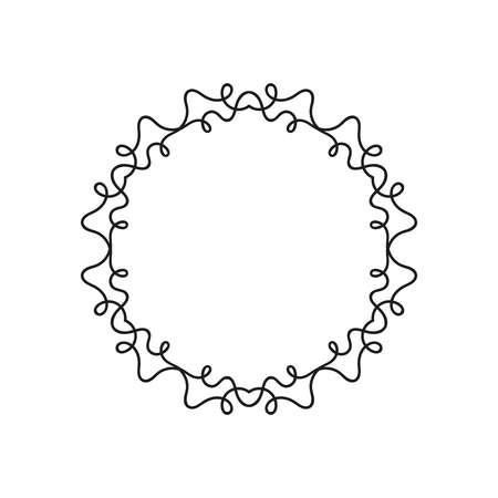 illustration round frame design. Ilustração